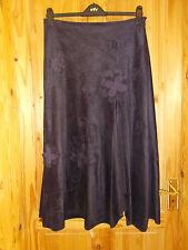 PER UNA dark purple moleskin floral Steampunk Victoriana maxi skirt BNWT 14R M&S