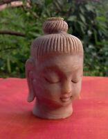 Tête Bouddha Marbre Statue Fait main Inde Décor Bouddhisme Népal Tibet T1