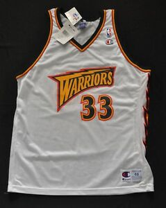 ANTAWN JAMISON GOLDEN STATE WARRIORS CHAMPION JERSEY WHITE THUNDERBOLT 48 XL NWT