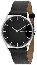 Skagen SKW6220 Holst Black Dial Black Leather Strap Men's Watch