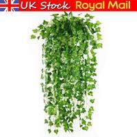 12X Artificial Ivy Garland Trailing Leaf Vine Fake Foliage Flower Hanging Plant