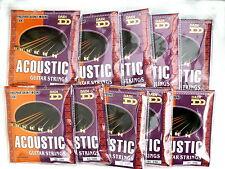 Cheap bulk acoustic guitar strings light 10-48 AG246 professional quality 10 set