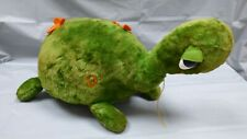 More details for vintage 1950's merrythought green plush soft pull along cute turtle tortoise toy