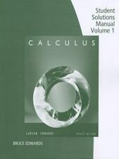 Student Solutions Manual, Volume 1  Chapters P-11 for Larson/Edwards' Calculus