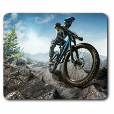 Computer Mouse Mat - Mountain Biker Bicycle Cool Office Gift #2752