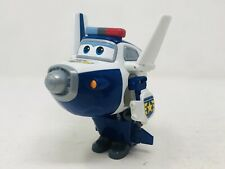 "Super Wings Police Paul Transformer Jet Bot Transforms 5.5"" Robot (READ)"