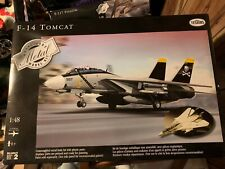 Testors Metal F 14 Tomcat Airplane 1:48 Scale Diecast Metal Model Kit