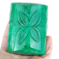2454 Cts Natural Carved Emerald Top Green Certified Huge Museum Size Gemstone