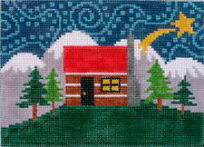 Cabin Hand Painted Needlepoint Canvas