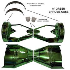 "VERDE cromato 8"" Skateboard parti in plastica Shell-SWEG custodia 8 in (ca. 20.32 cm) TELAIO UK"