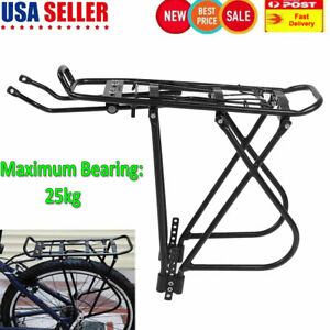 Aluminum Bike Rear Rack Seat Luggage Carrier Bicycle Post Pannier Cycling US