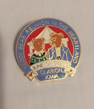 Teddy Bear Reunion In The Heartland Pin From 1995, Clarion, Iowa