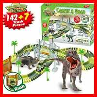 Dinosaur Toys 142 PC Train Tracks Toy For Kids STEM Best Building Gift 3+ Year O