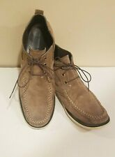 John Varvatos USA Tan Suede Slip-On Top Stitch Moccasin Ankle Chukka Shoe Sz 12