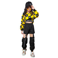 Girls Jazz Dancewear Outfits Kids Hip Hop Dance Stage Performance Costumes