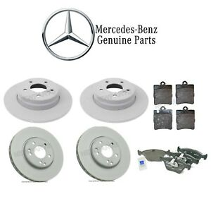 For Mercedes W210 Set of Front & Rear Brake Disc Rotors & Pads Genuine KIT