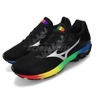 Mizuno Wave Rider 23 Osaka Black Silver Rainbow Men Running Shoes J1GC1903-73