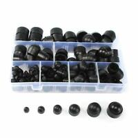 145 Pcs Dome Hex Bolt Nut Head Caps Cover against Tampering M4-M12 Plastic Black