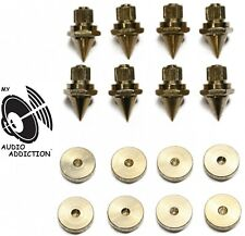 Gold Speaker Spike with floor discs, Stand Foot, Cone Isolation Spikes Set of 8