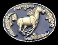 Floral Horse Western West Cowboy Cowgirl Rodeo Belt Buckle Boucle Ceinture