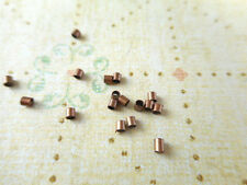 200 Antique Copper Plated Tube Crimps Findings 16550