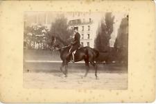 Sport Équestre, Démonstration Militaire à cheval, ca.1900, Vintage citrate print