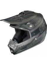 Troy Lee Designs SE3 CF Team Offroad MX Dirt Bike Helmet Matte Black Grey Small