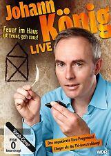 Johann König - Feuer im Haus ist teuer, geh' raus - Live! DVD NEU + OVP!