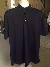 FOOTJOY Navy Blue Embroidered Cadence Health Polo Golf Shirt - Size M EUC