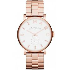Marc By Marc Jacobs Ladies Watch Baker Rose Gold Tone S/Steel MBM3244