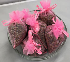 Set of 6 Lavender Sachets made with Fruit Punch Organza Bags