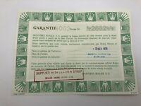 GENUINE Rolex Vintage Guarantee Warranty 4082 Cellini Paper 1978' / 0510003