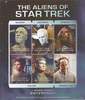 Liberia - 2016 Star Trek Aliens - 6 Stamp Sheet - 12A-067