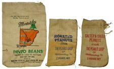 3 Antique BURLAP FEED SACKS