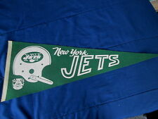 "VINTAGE 1960'S ERA AFL NEW YORK JETS  FELT  PENNANT 11 3/4""x29 3/4"""
