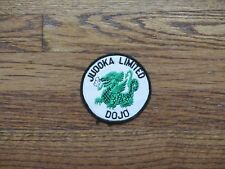 judoka limited dojo  ,patch,new old stock, 1970's