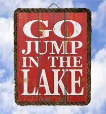 Lake 27 Go Jump In the Lake Gifts Lake Decor Art Prints Welcome lalarry ventage