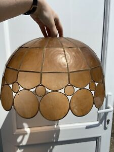 Vintage Tiffany Style Mother Of Pearl Large Light Shade