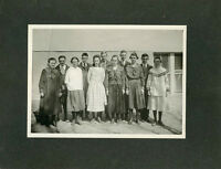 Antique Matted Photo-1921 Class Photo-PARKS Family Lady Graduation-Group of 11