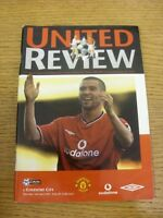 14/04/2001 Manchester United v Coventry City  . Thanks for viewing our item, if