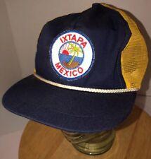 62955aef25f Vintage IXTAPA MEXICO 80s Trucker Hat Cap Snapback Island Beach Vacation  RARE