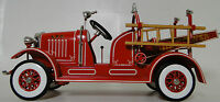 Pedal Car 1920s Ford Truck Fire Engine Red Vintage Metal Model >Length: 9 Inches