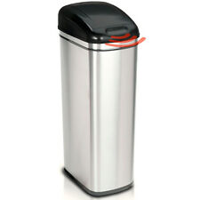 60L Tight Space Saving Slim Jim Stainless Steel Kitchen Food Waste Rubbish Bin