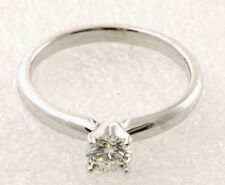 Near 1/2 Ct. Ikuma Canadian Diamond AGS Report 14K White Gold Solitaire Ring