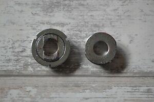 Vintage Chromed Steel 68mm English Threaded 1.37 x 24TPI Bottom Bracket Cups