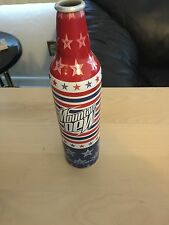 Mountain Dew Aluminum Bottle Art Red White And Blue With Stars RARE!