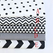 Black/white/Check /stripe/Dot 50cm*160cm 100%cotton fabric Quilting Quilt CraftB