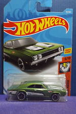 2018 Hot Wheels '69 DODGE CHARGER 500 in GREEN, HW MUSCLE MANIA 6/10 Long Card
