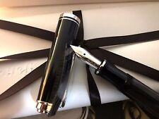 Pelikan SOUVERAN M405 Black Stripe Stresemann Fountain Pen EF Nib! 803 724