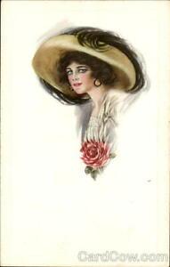 Women Glamour Woman Antique Postcard Vintage Post Card